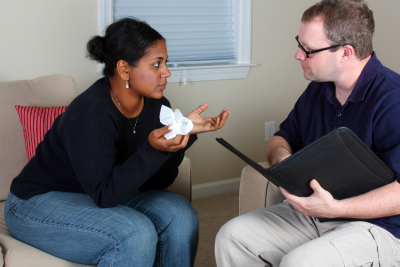 woman counseling session with doctor at the office